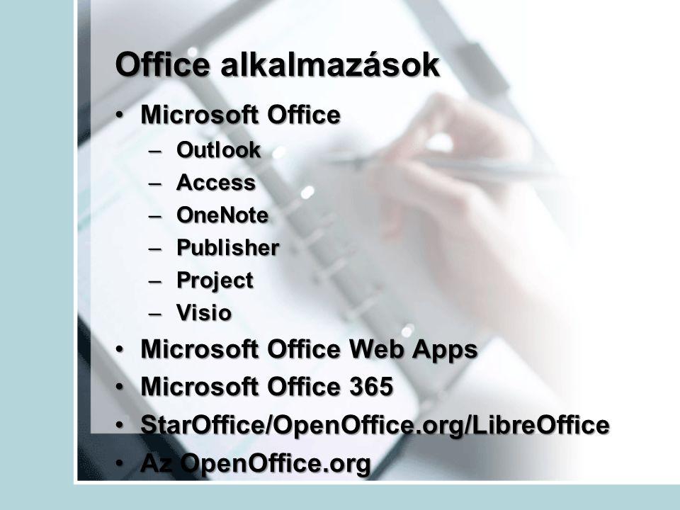 Office alkalmazások Microsoft Office Microsoft Office Web Apps