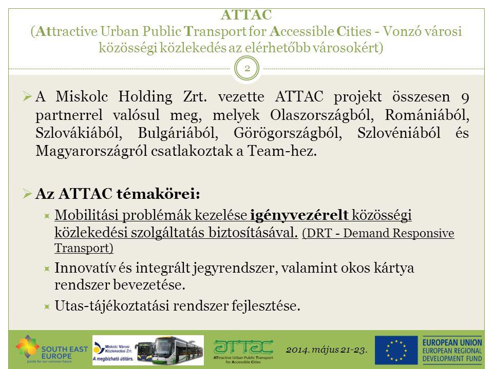 ATTAC (Attractive Urban Public Transport for Accessible Cities - Vonzó városi közösségi közlekedés az elérhetőbb városokért)