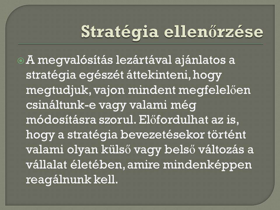 Stratégia ellenőrzése