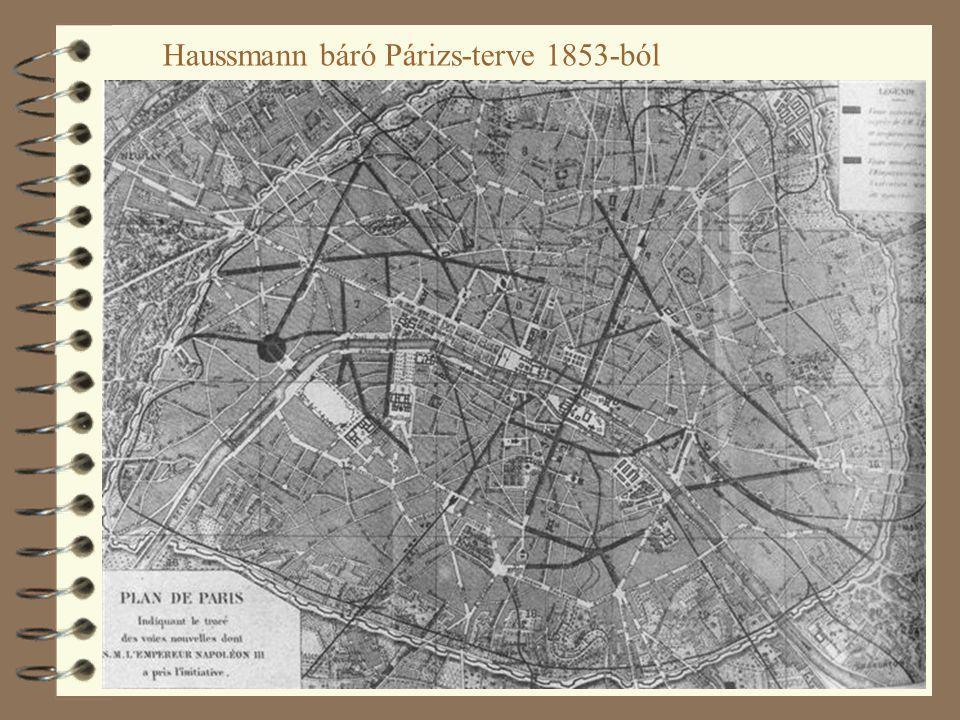 Haussmann báró Párizs-terve 1853-ból