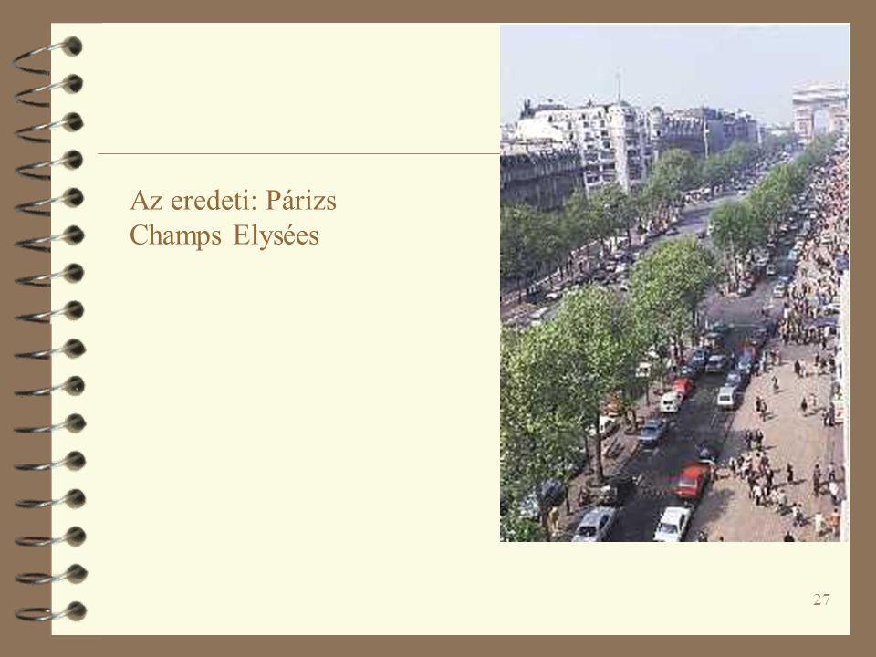 Az eredeti: Párizs Champs Elysées