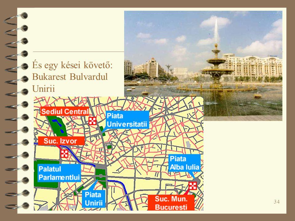 És egy kései követő: Bukarest Bulvardul Unirii
