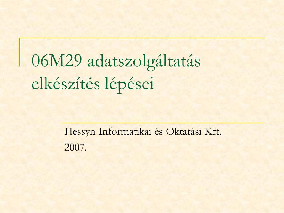 06M29 adatszolgáltatás elkészítés lépései