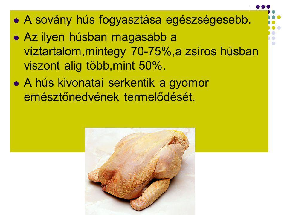 A sovány hús fogyasztása egészségesebb.