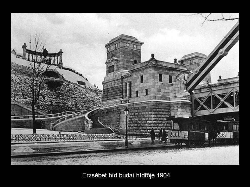 Erzsébet híd budai hídfője 1904