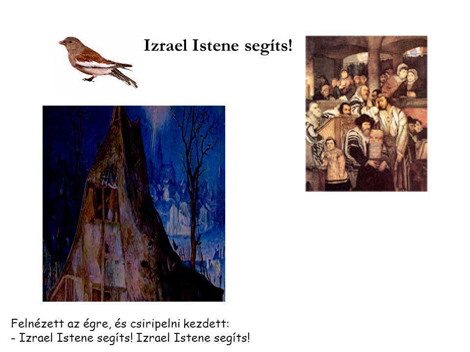 Izrael Istene segíts! Felnézett az égre, és csiripelni kezdett: