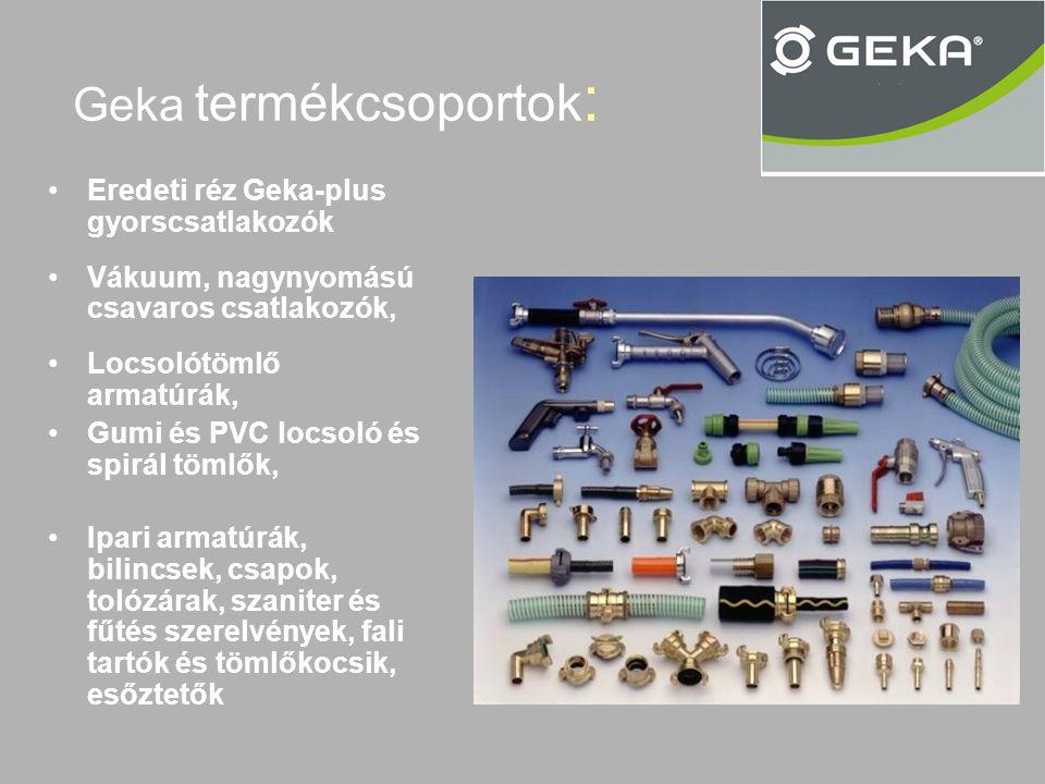 Geka termékcsoportok: