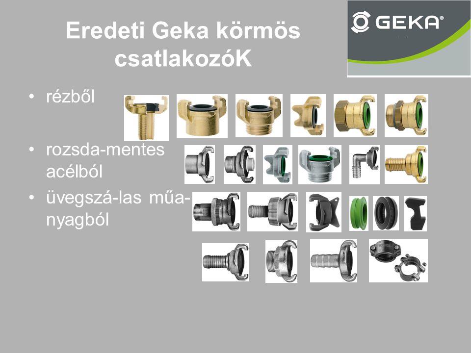 Eredeti Geka körmös csatlakozóK