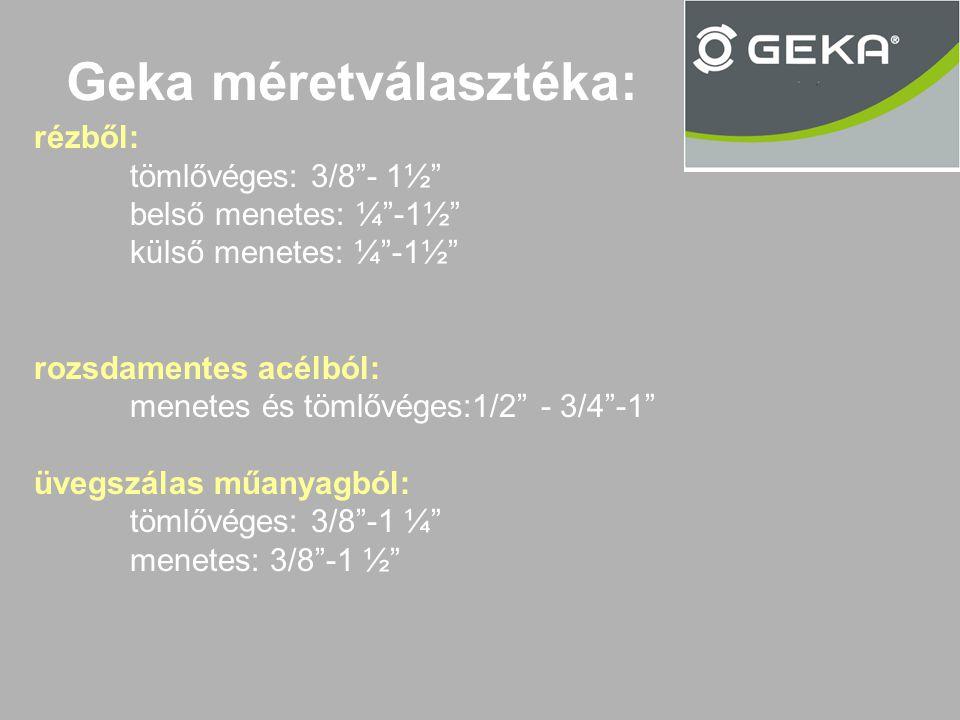 Geka méretválasztéka: