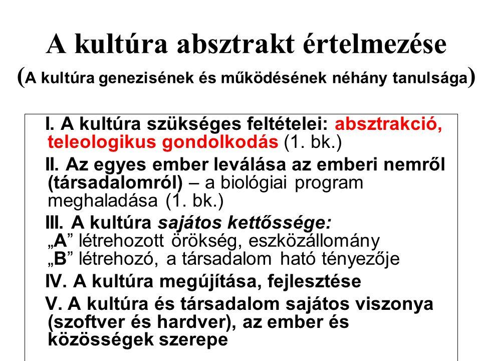A kultúra absztrakt értelmezése (A kultúra genezisének és működésének néhány tanulsága)