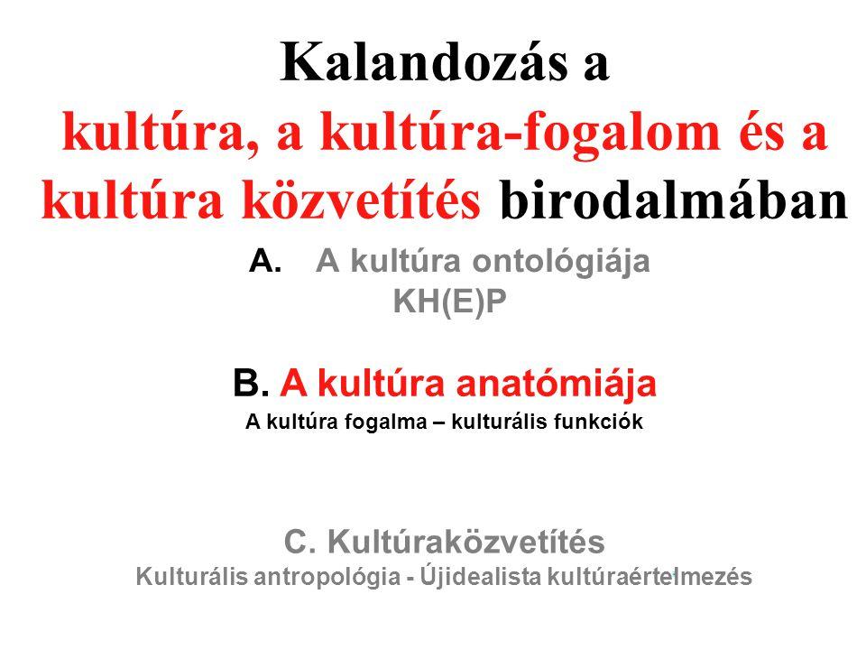 A kultúra ontológiája KH(E)P