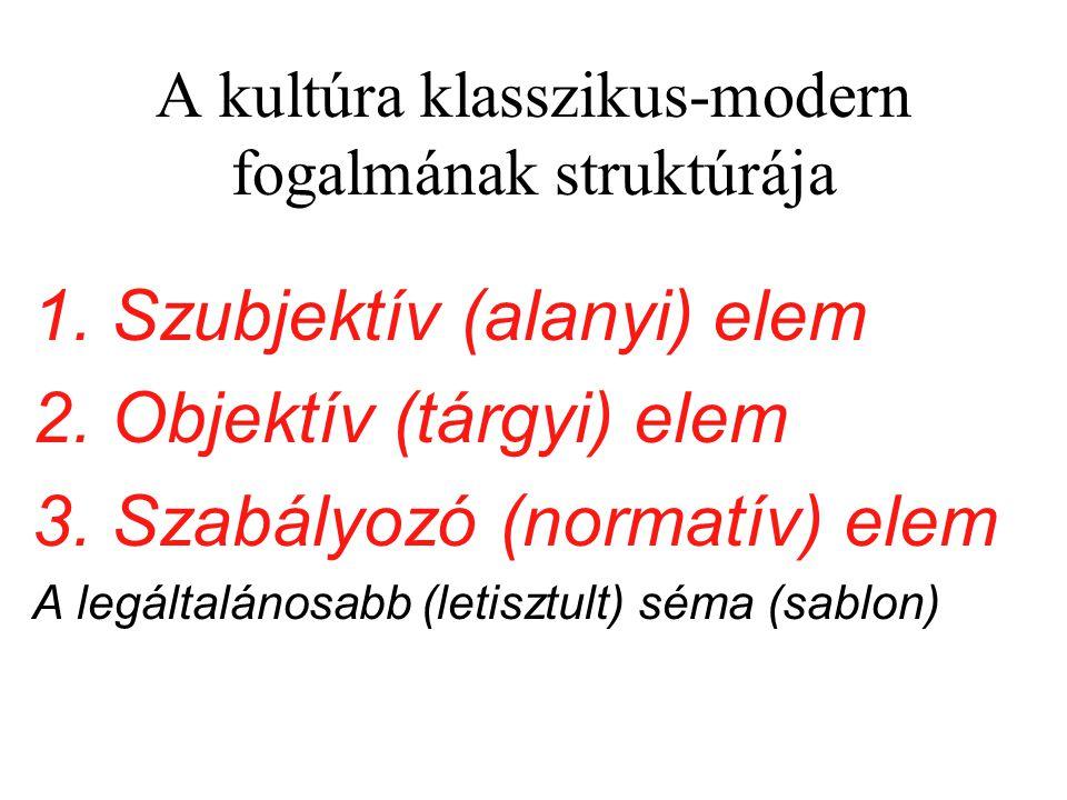 A kultúra klasszikus-modern fogalmának struktúrája