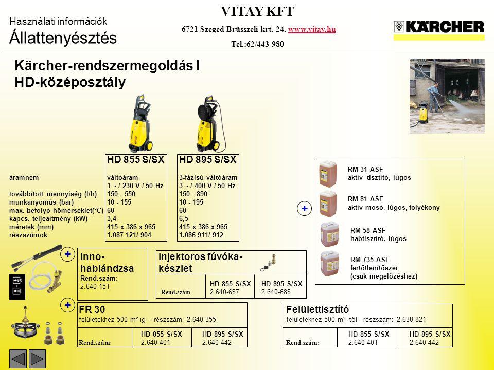 Kärcher-rendszermegoldás I HD-középosztály