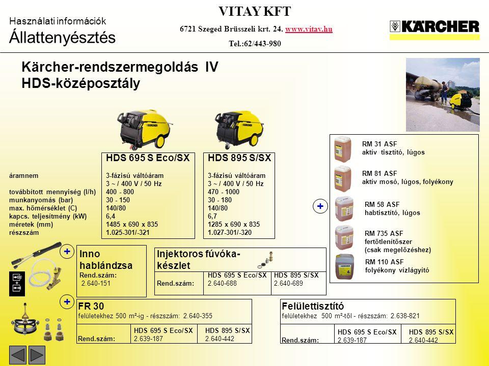 Kärcher-rendszermegoldás IV HDS-középosztály