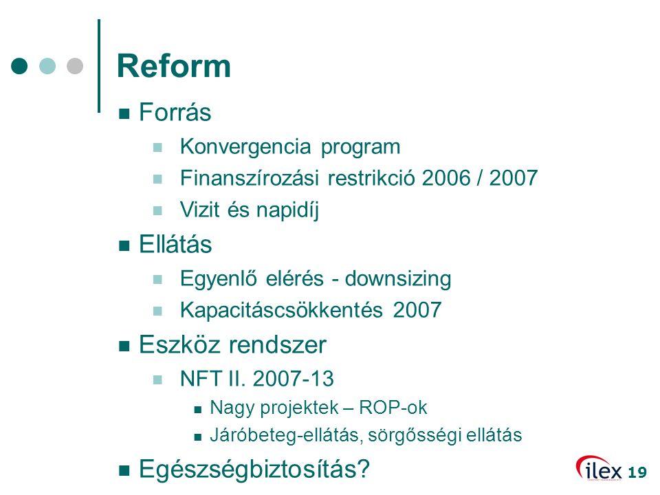 Reform Forrás Ellátás Eszköz rendszer Egészségbiztosítás