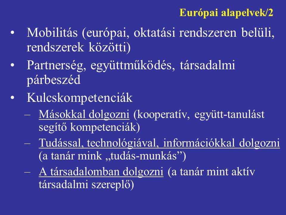 Mobilitás (európai, oktatási rendszeren belüli, rendszerek közötti)