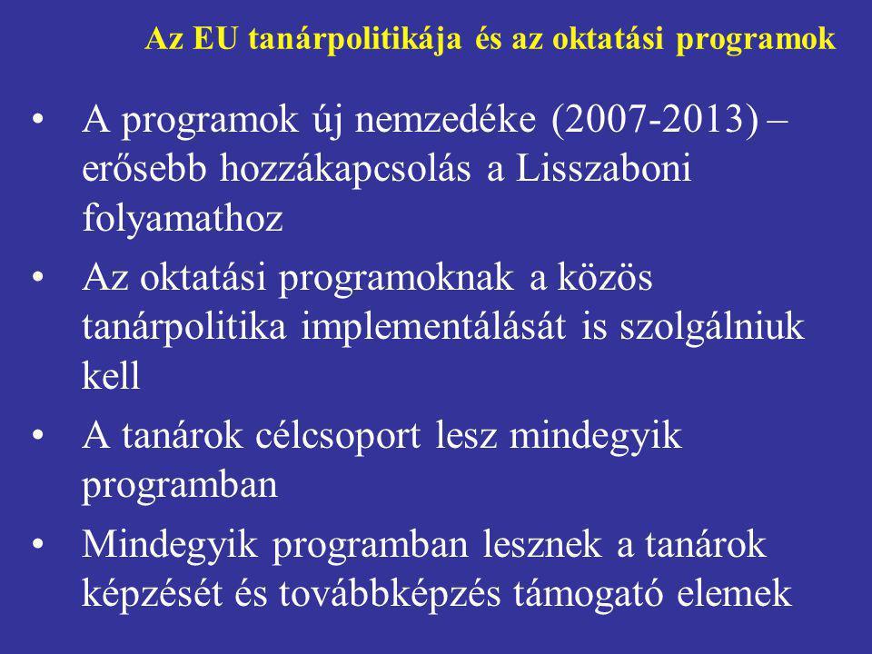 Az EU tanárpolitikája és az oktatási programok