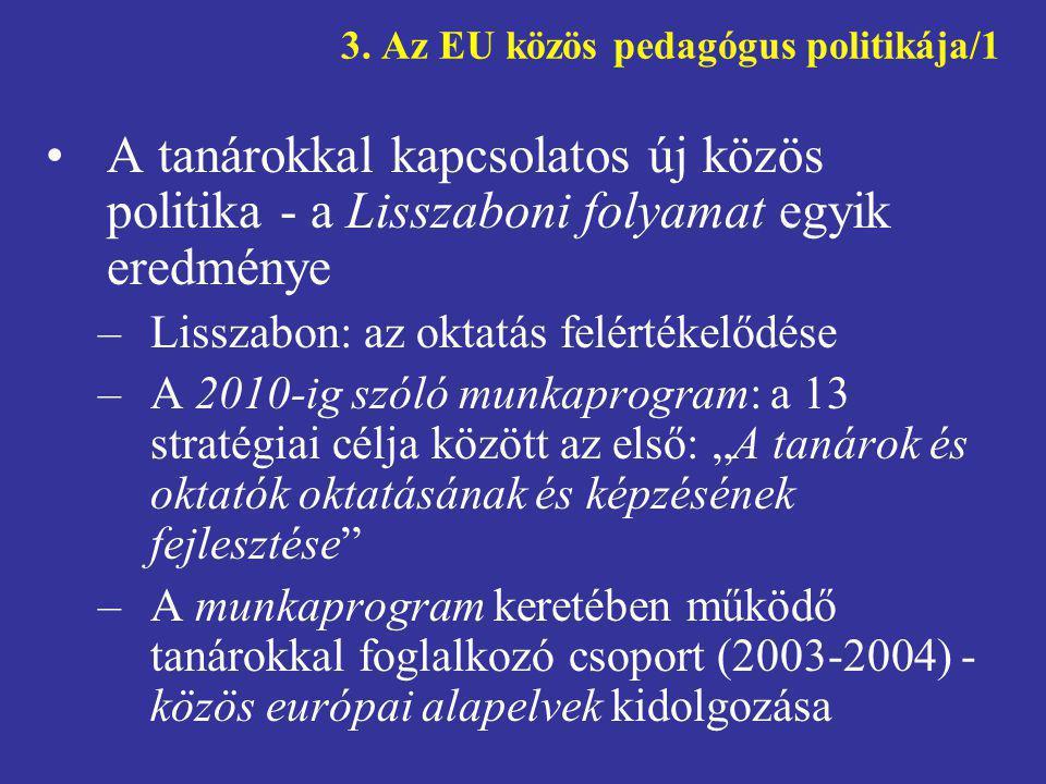 3. Az EU közös pedagógus politikája/1