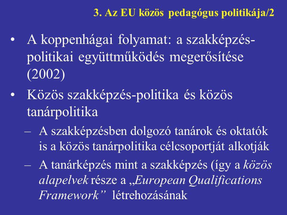 3. Az EU közös pedagógus politikája/2