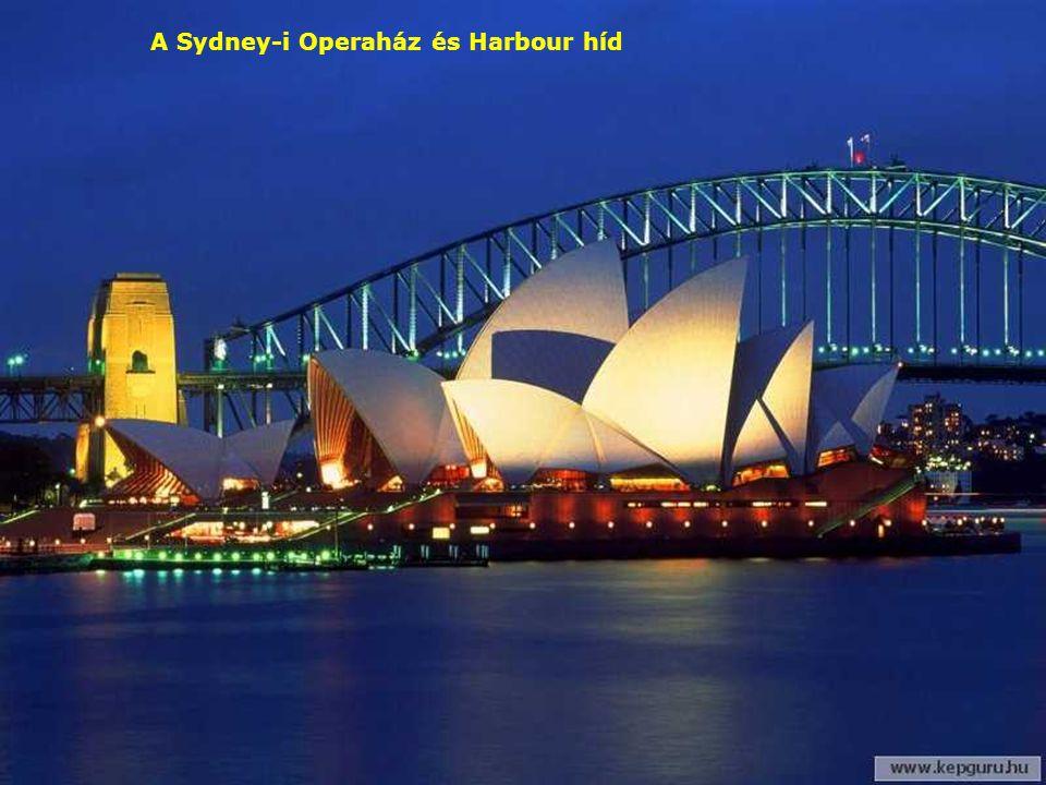 A Sydney-i Operaház és Harbour híd