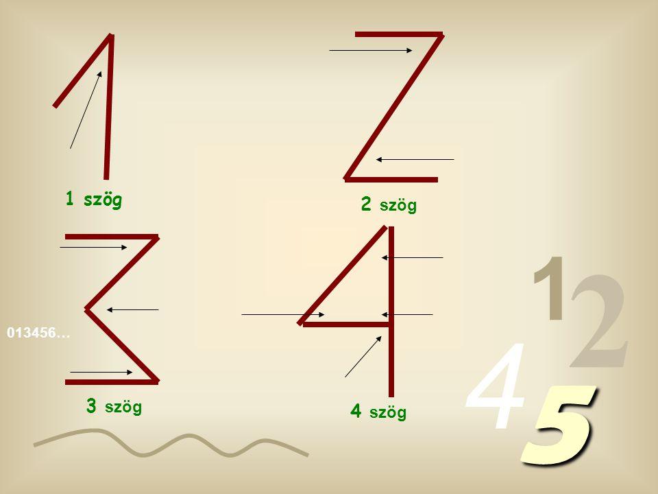 1 szög 2 szög 1 2 4 013456… 5 3 szög 4 szög