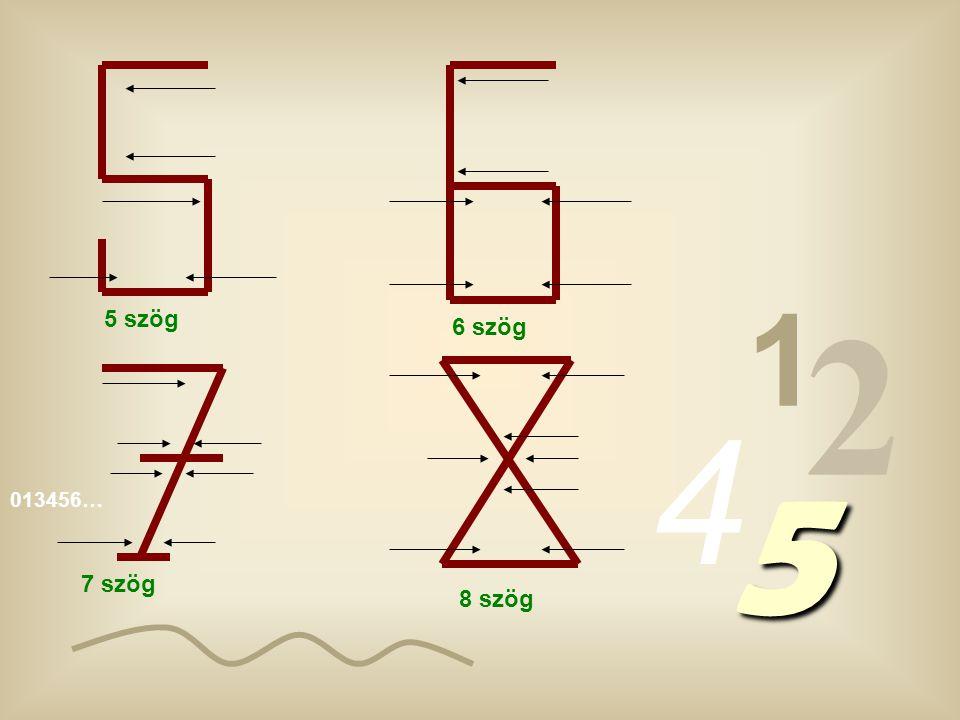 1 2 5 szög 6 szög 4 5 013456… 7 szög 8 szög