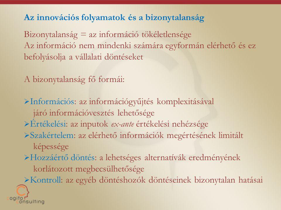 Az innovációs folyamatok és a bizonytalanság
