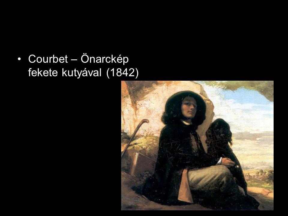 Courbet – Önarckép fekete kutyával (1842)