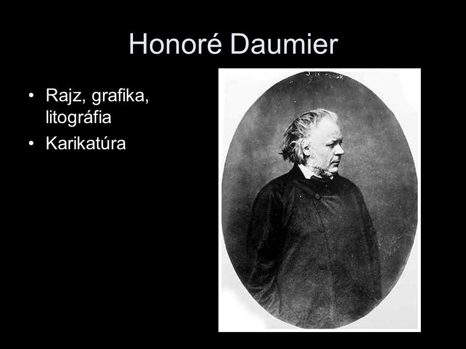 Honoré Daumier Rajz, grafika, litográfia Karikatúra