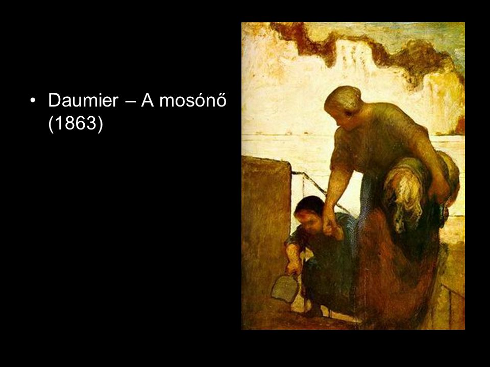 Daumier – A mosónő (1863)