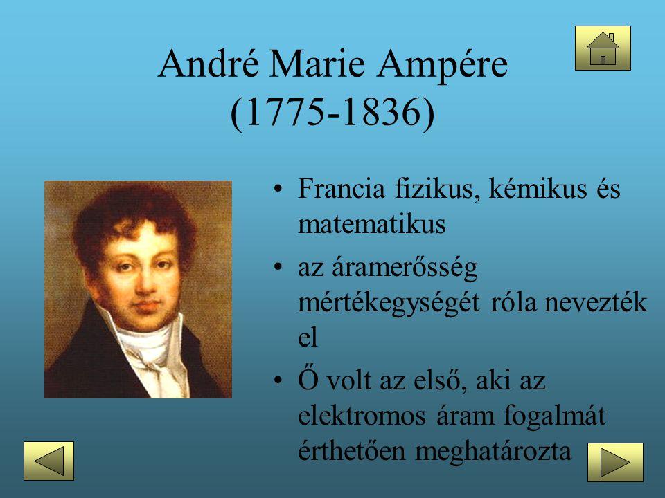 André Marie Ampére (1775-1836) Francia fizikus, kémikus és matematikus