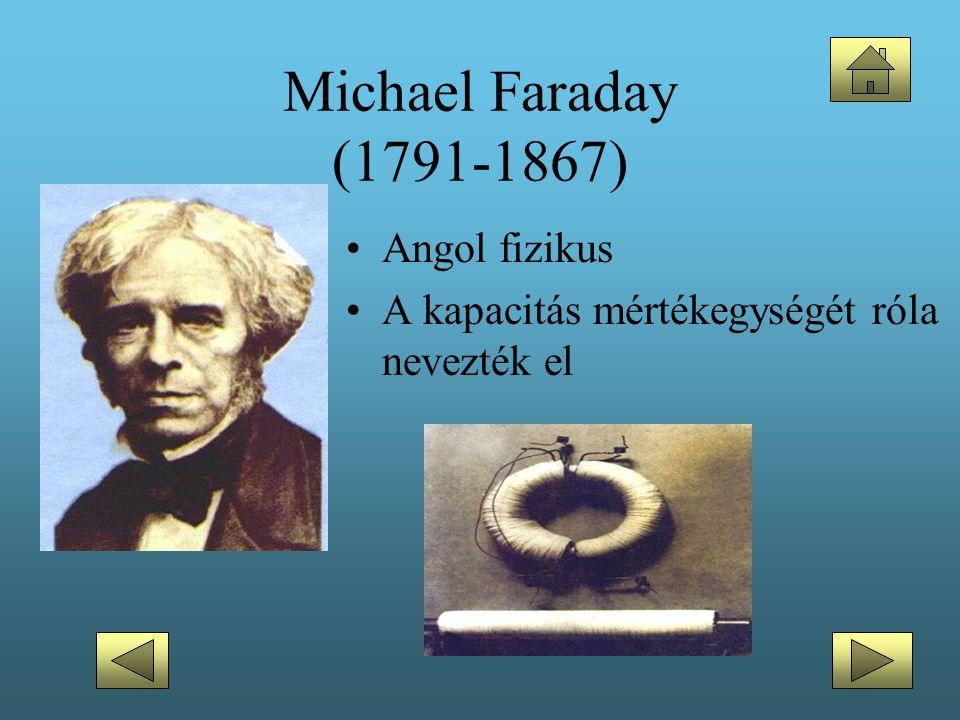 Michael Faraday (1791-1867) Angol fizikus