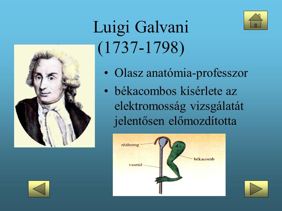 Luigi Galvani (1737-1798) Olasz anatómia-professzor