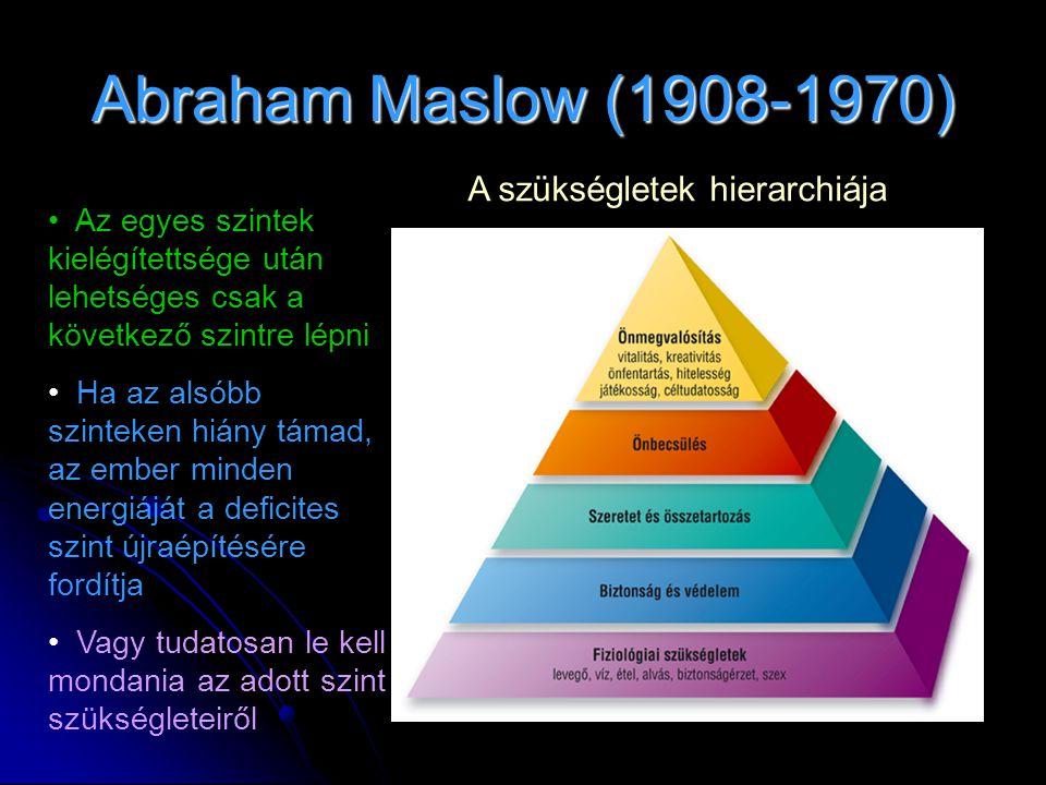 Abraham Maslow (1908-1970) A szükségletek hierarchiája