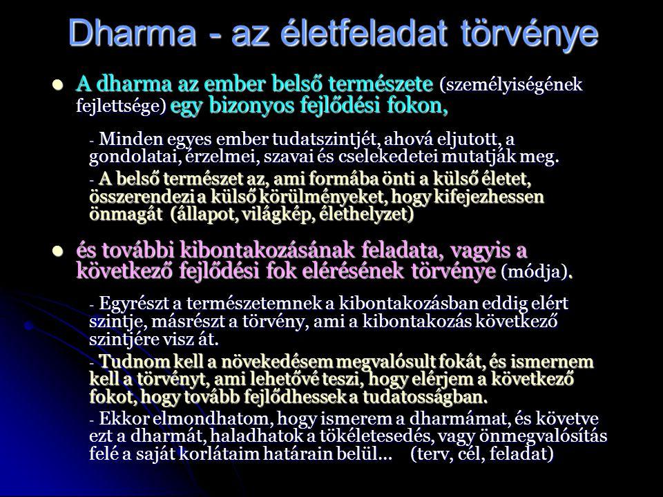Dharma - az életfeladat törvénye