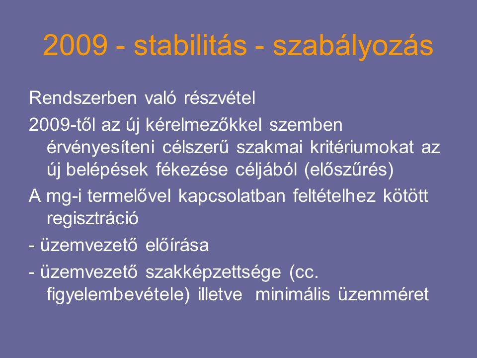 2009 - stabilitás - szabályozás
