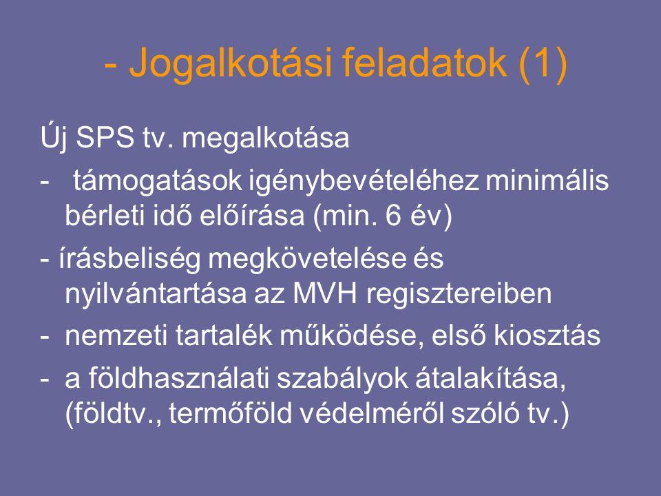 - Jogalkotási feladatok (1)