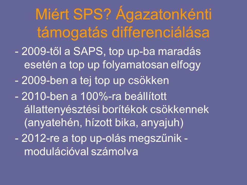 Miért SPS Ágazatonkénti támogatás differenciálása