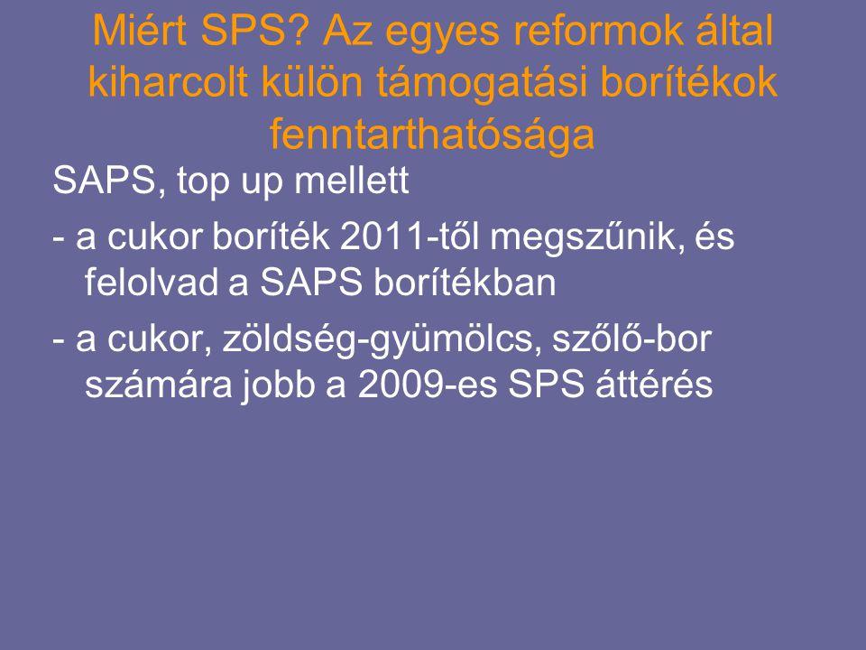 Miért SPS Az egyes reformok által kiharcolt külön támogatási borítékok fenntarthatósága