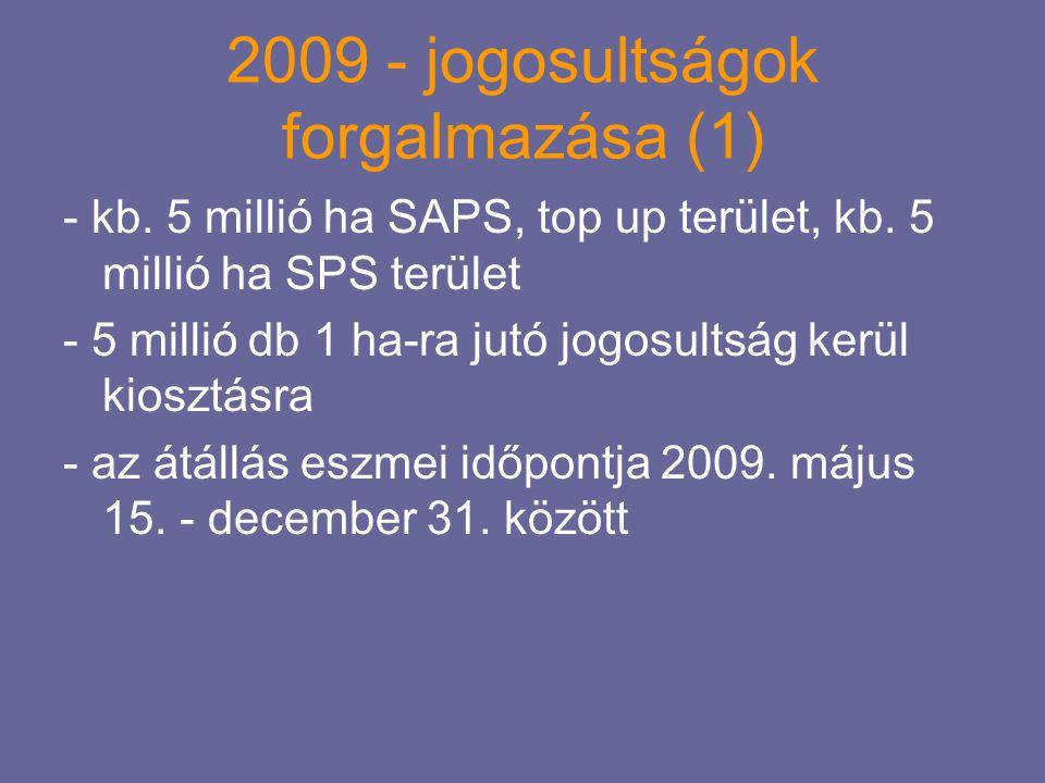 2009 - jogosultságok forgalmazása (1)