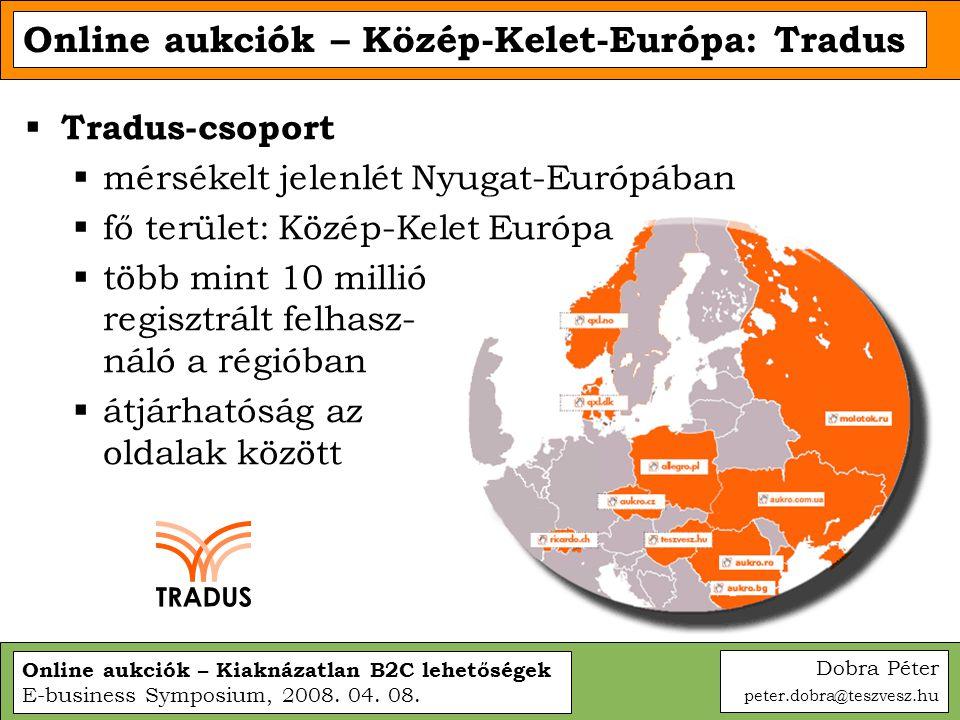 Online aukciók – Közép-Kelet-Európa: Tradus