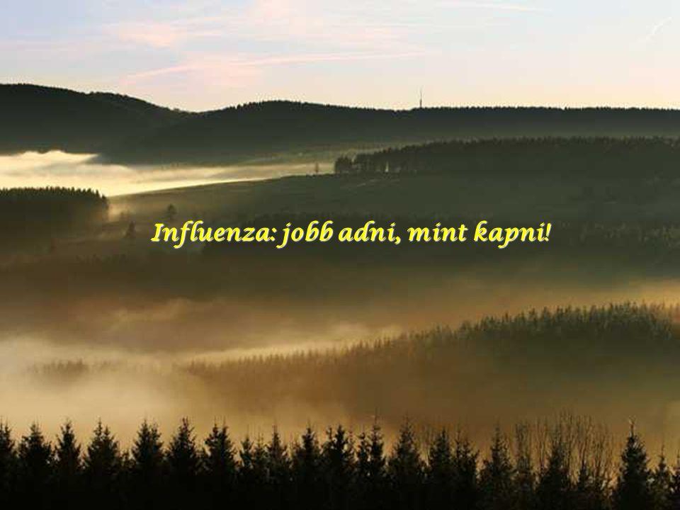 Influenza: jobb adni, mint kapni!