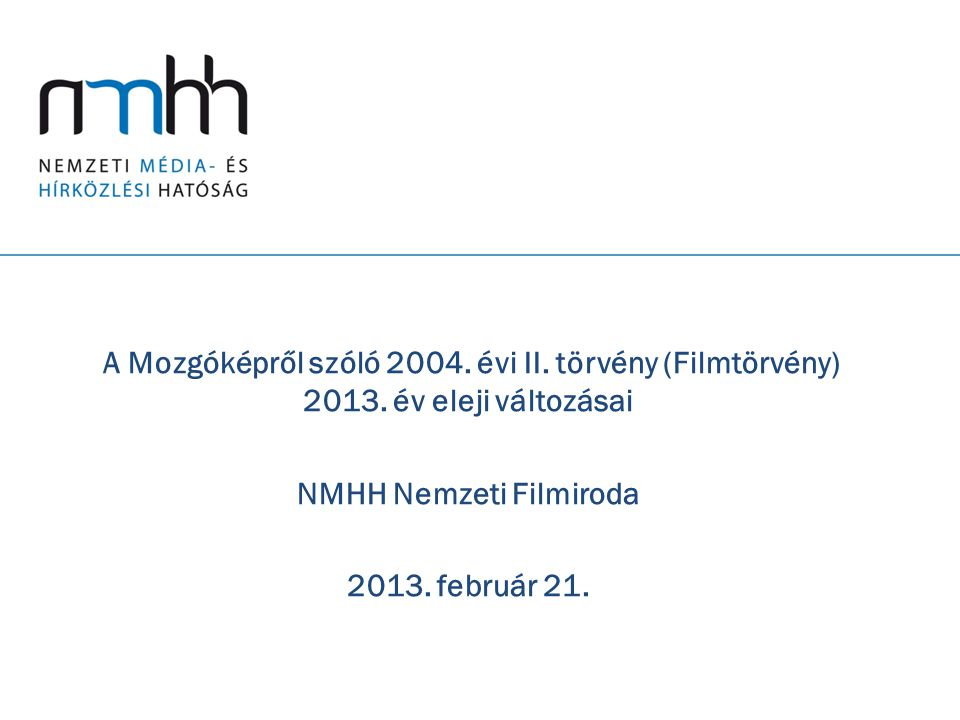 NMHH Nemzeti Filmiroda