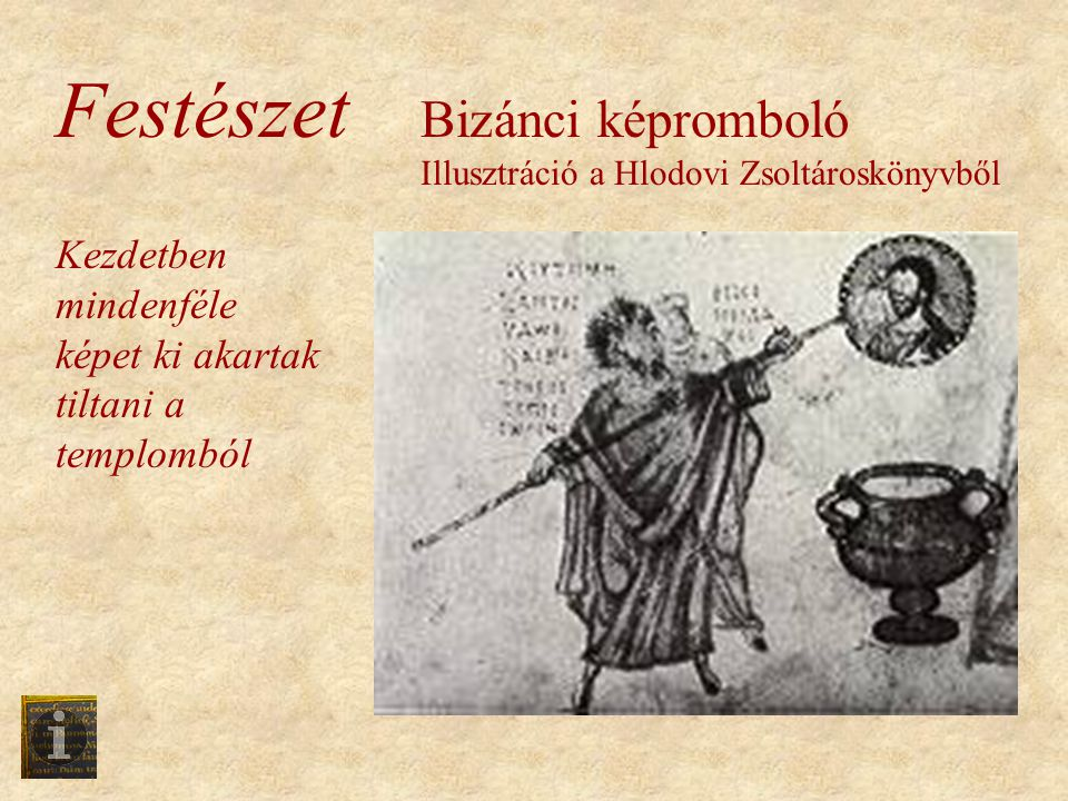 Festészet Bizánci képromboló Illusztráció a Hlodovi Zsoltároskönyvből