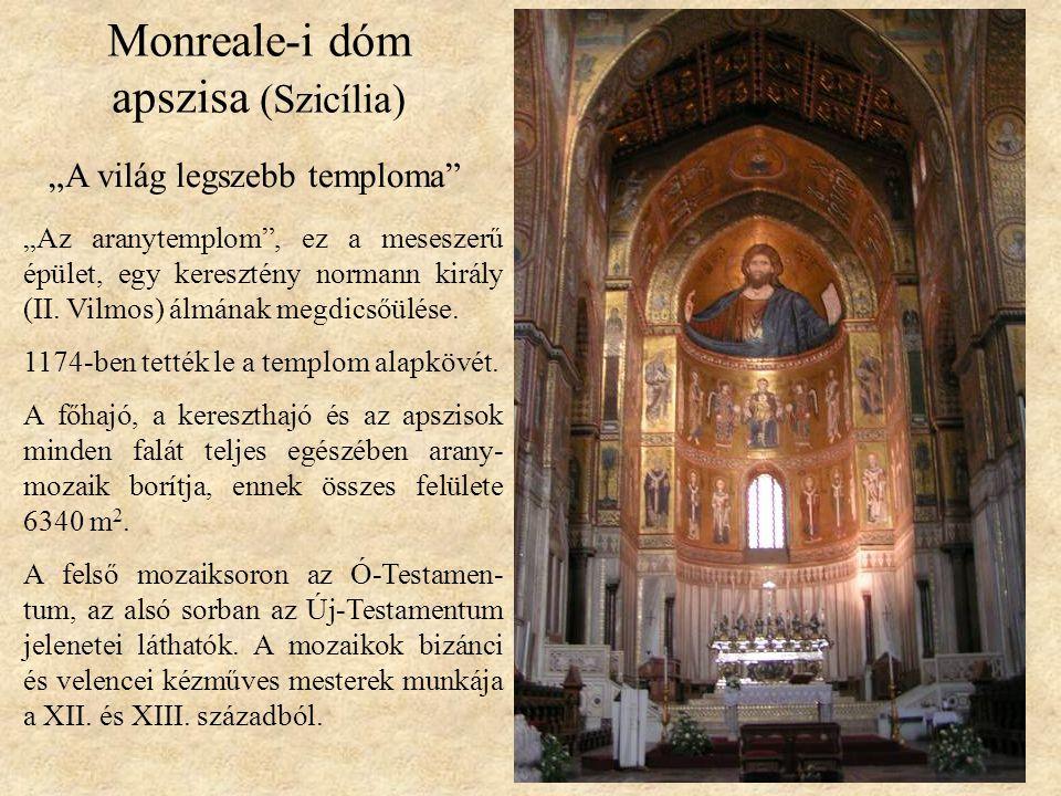 Monreale-i dóm apszisa (Szicília)