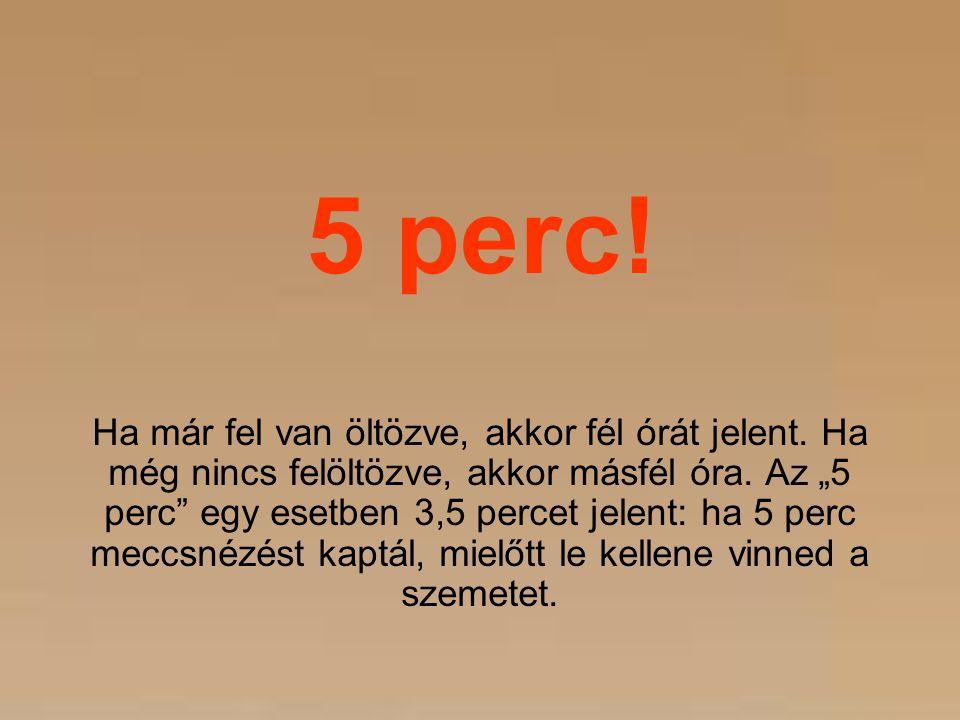 5 perc!