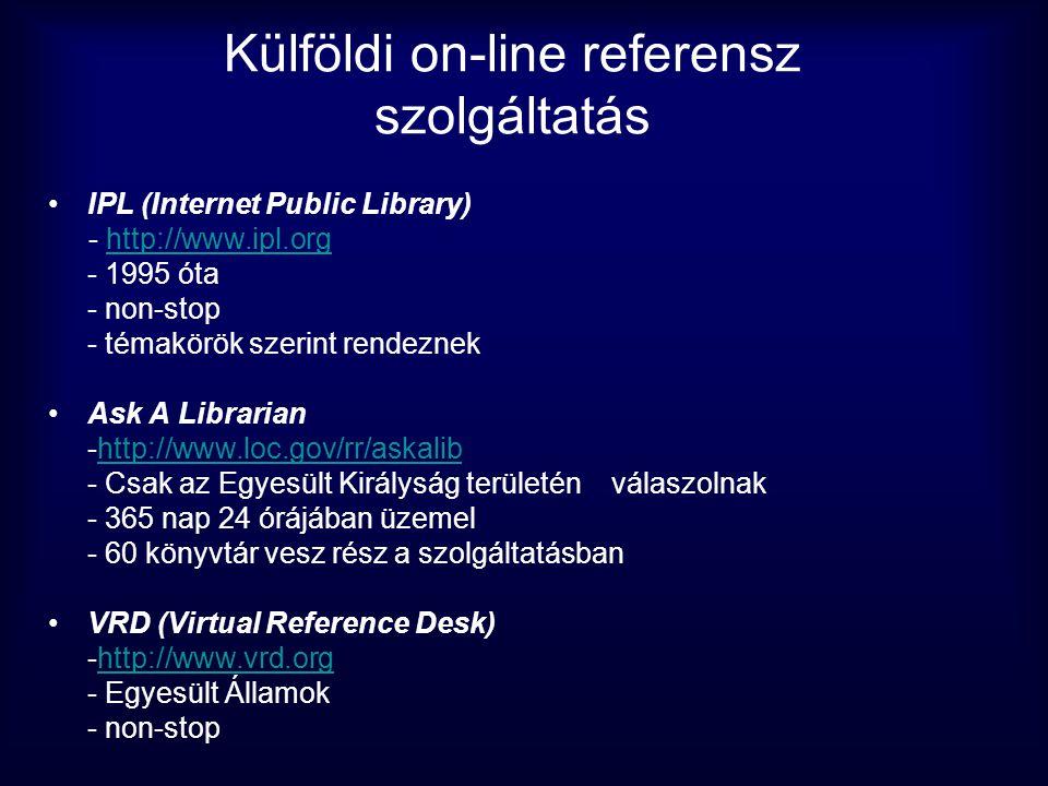 Külföldi on-line referensz szolgáltatás