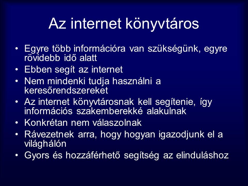 Az internet könyvtáros