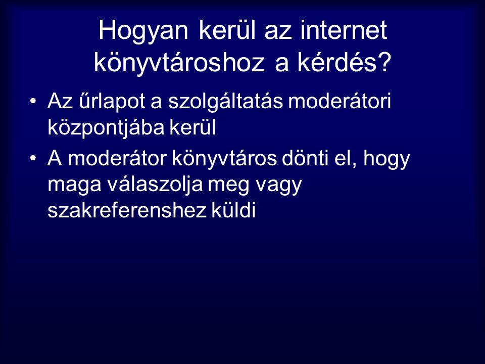 Hogyan kerül az internet könyvtároshoz a kérdés