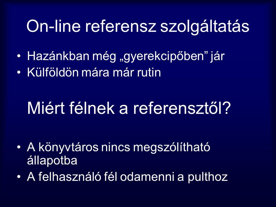 On-line referensz szolgáltatás